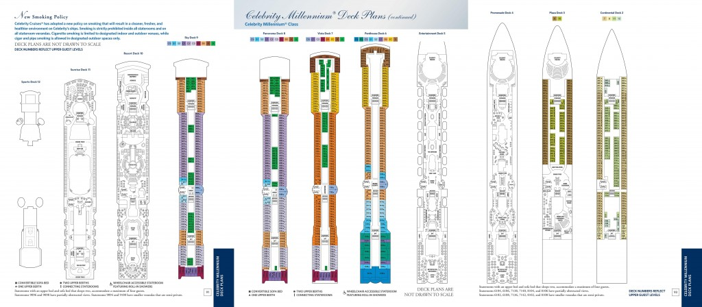 Celebritiy Millennium Deck Plans