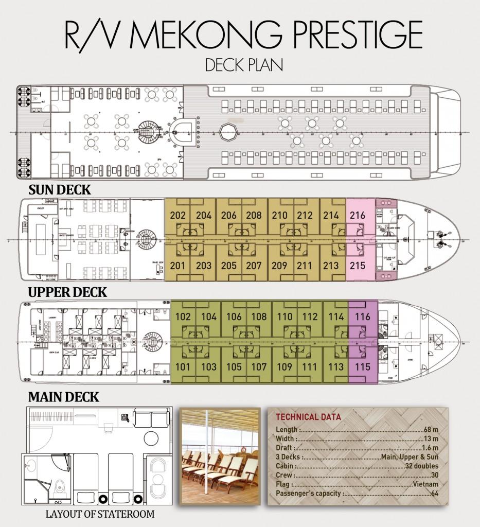 Mekong Prestige II Deck Plans