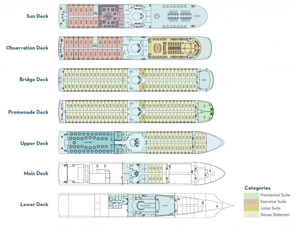 Century Paragon Deck Plans
