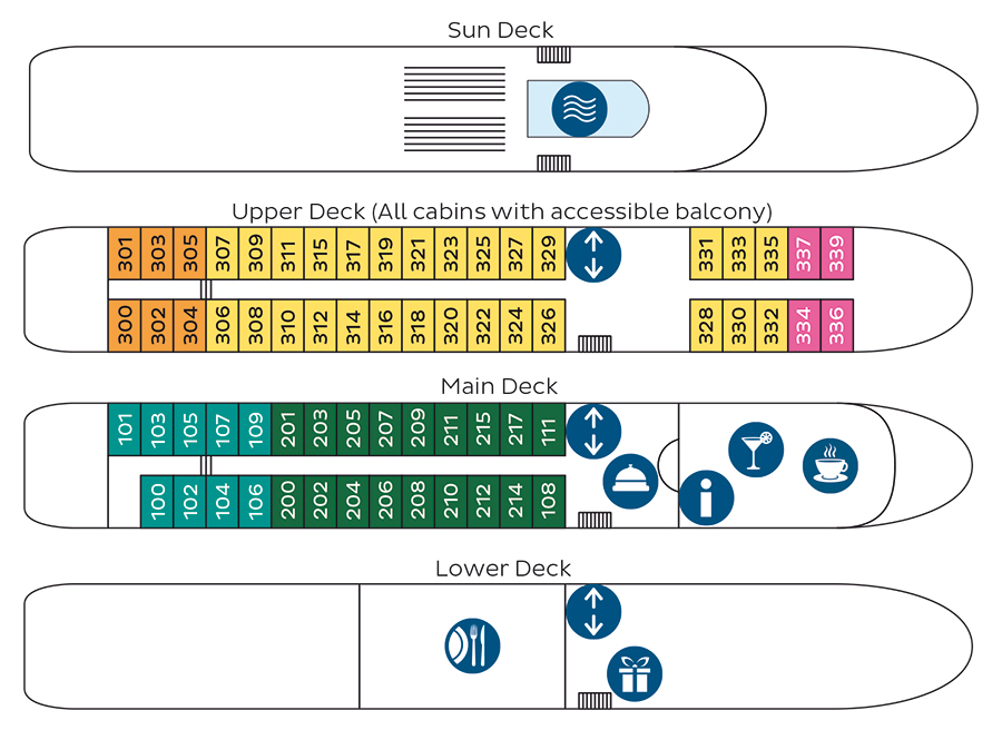 Douro Cruiser Deck Plan